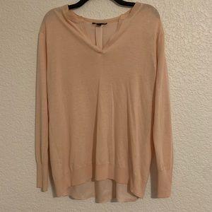 EUC Ann Taylor peach split back soft sweater